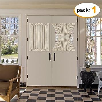 H.Versailtex Natural Linen and Poly Semi-Sheers French Door Curtain Panel Premium & Amazon.com: H.Versailtex Natural Linen and Poly Semi-Sheers French ...