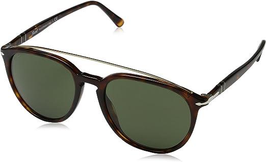 Persol 0Po3159S 901531 55 Gafas de sol, Marrón (Havana/Green), Unisex-Adulto