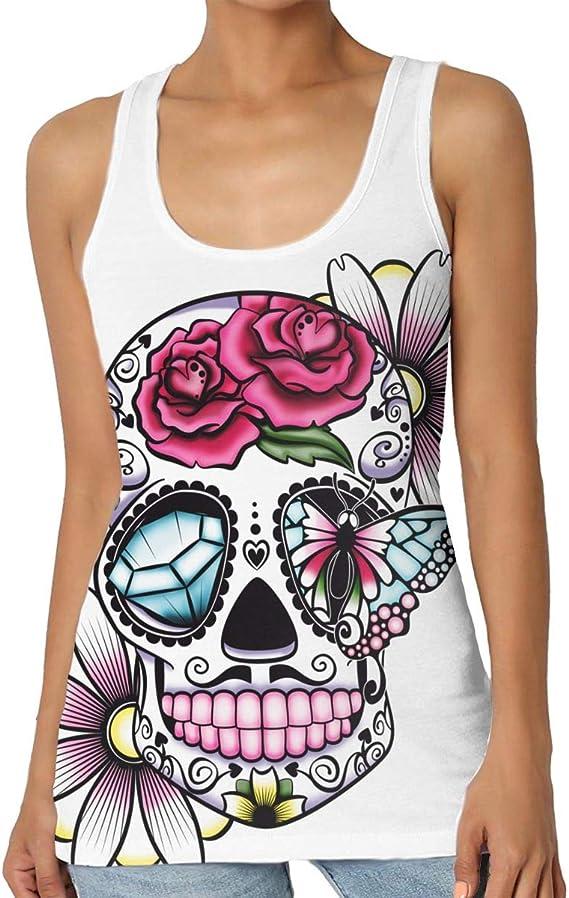 Zxhalkhfd Flower Skull Premium - Camiseta de tirantes (100 cm ...