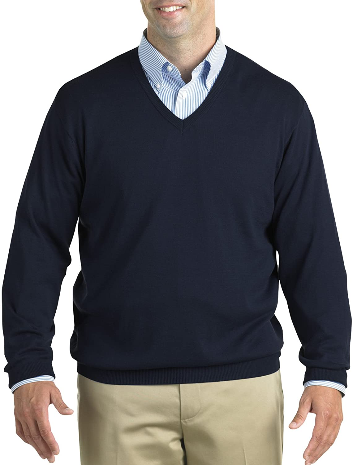Harbor Bay by DXL Big and Tall V-Neck Pullover