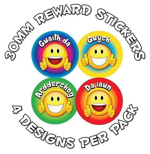 144 X Cymraeg Good Behaviour Award Stickers