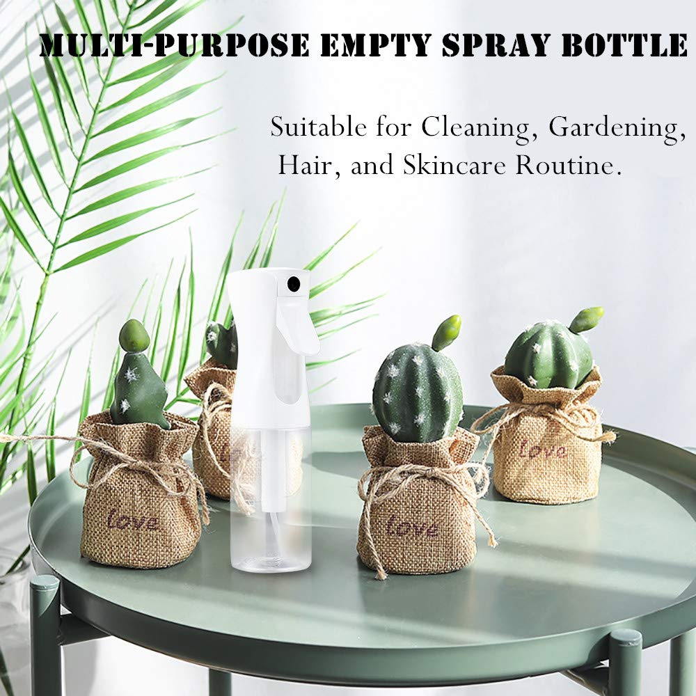 Empty Spray Bottle -5.4oz/160ml Hair Spray Bottle Mist Sprayer Fine Mist Spray Bottle Mist Spray Bottle Continuous Spray Bottle for Hair Styling, Plants, Cleaning