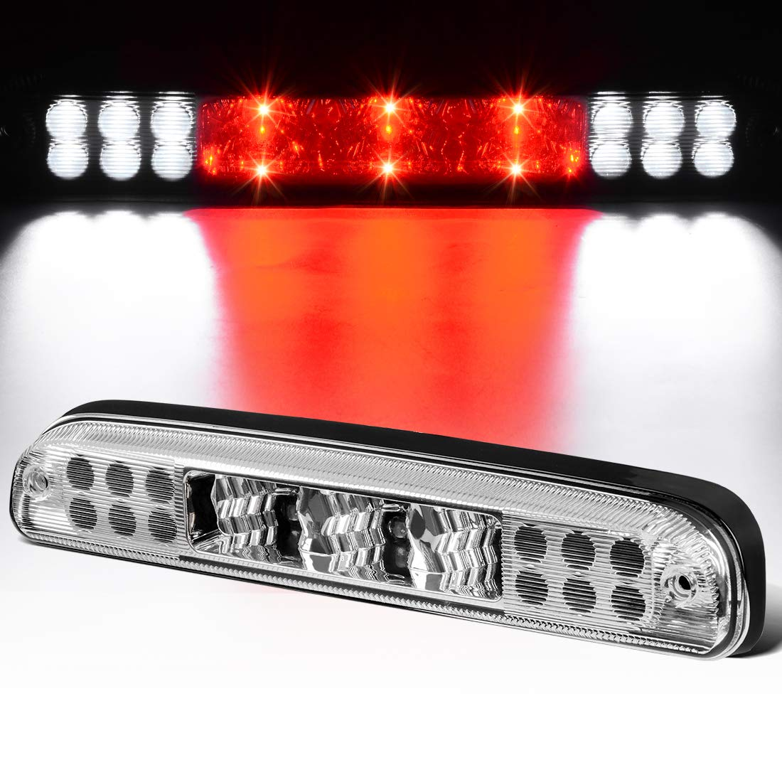 LED 3rd Brake Light For 1999-2016 F250 F350 F-450 F-550 Ford Super Duty/1993-2011 Ranger/2001-2005 Ford Explorer/1993-2010 Mazda B-Series High Mount Trailer Cargo Lamp (Smoke) DWVO
