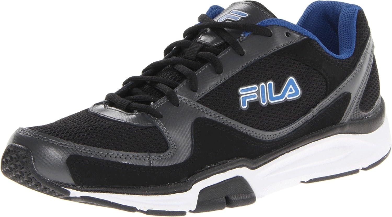 Fila Men's Vigilance Trainer-M Black/Castlerock/Prince Blue 11.5 M US 6pm FILA Footwear