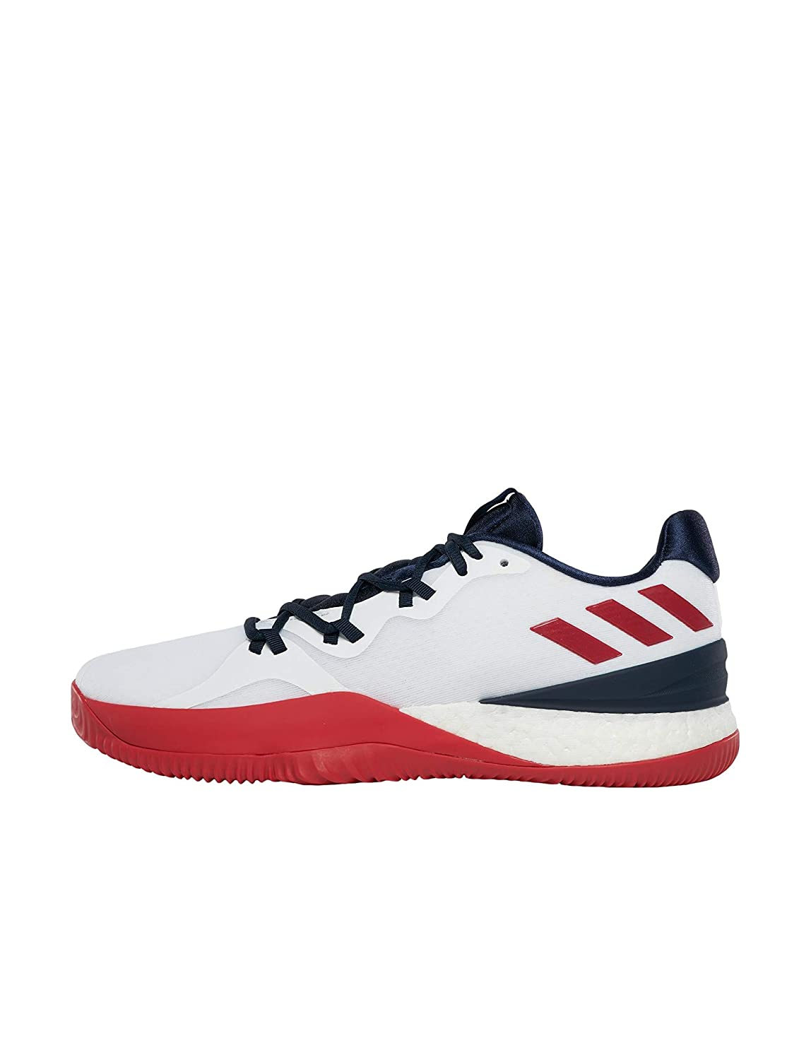 Blanc (Ftwr blanc Scarlet Collegiate Navy) adidas Crazy Light Boost 2018, Chaussures de Basketball Homme 47 1 3 EU