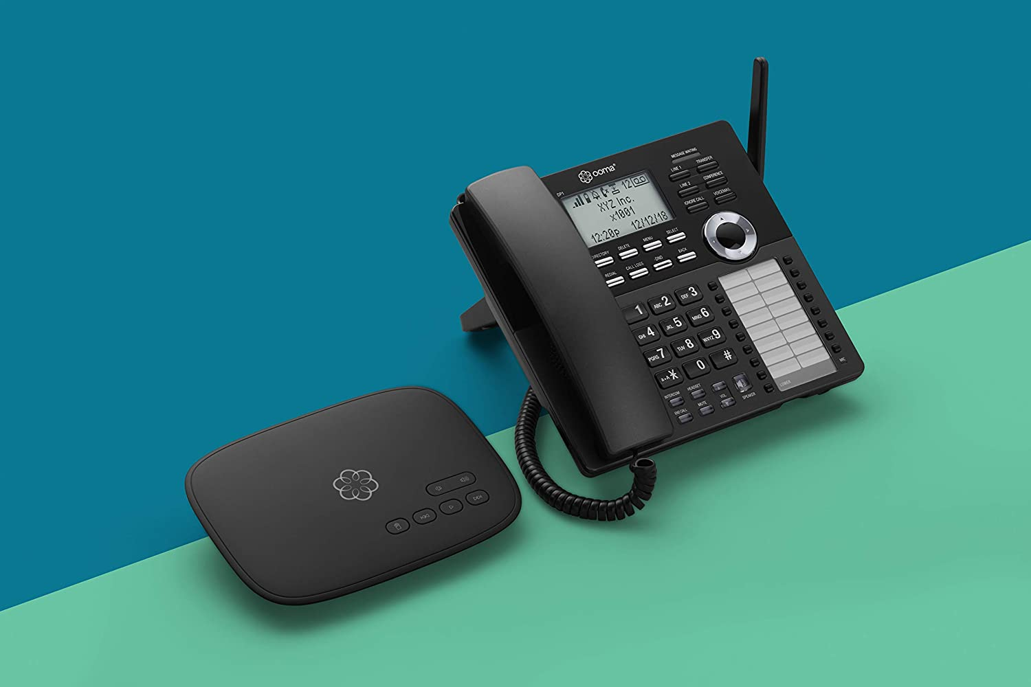 Ooma Telo VoIP Free Internet Home Phone Service and HD3 Handset /& DP1-T Wireless Business Desk Phone Connects wirelessly to Ooma Telo Base Station