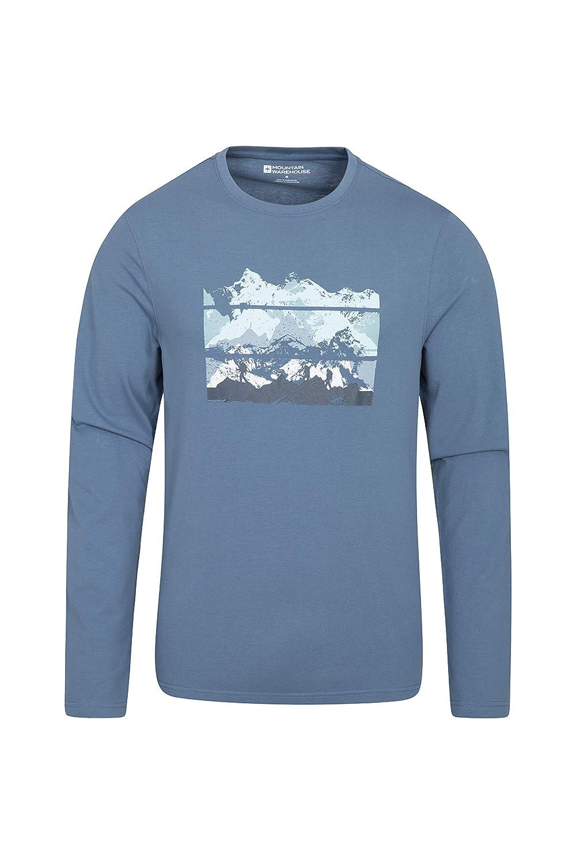 Atractiva y de f/ácil Cuidado Camiseta Ligera para Hombre Camiseta con Estampado Divertido y de Calidad Mountain Warehouse Camiseta de Manga Larga Extreme Limits