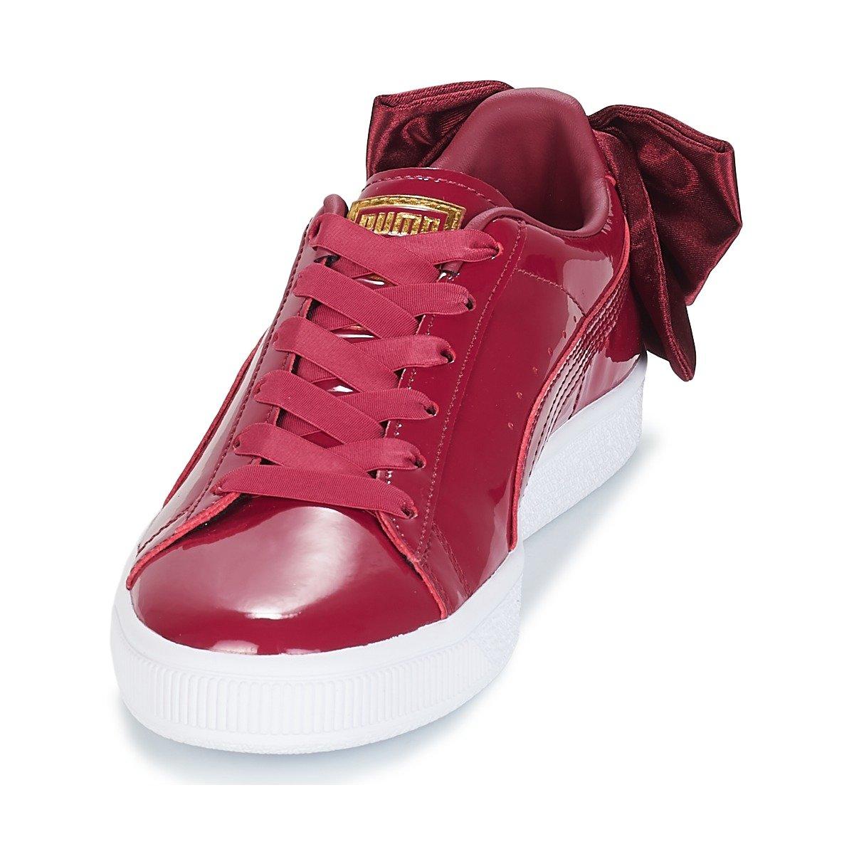 Wns Puma Tibetan Red Patent Basket Bow 36811804 v0mNwnO8