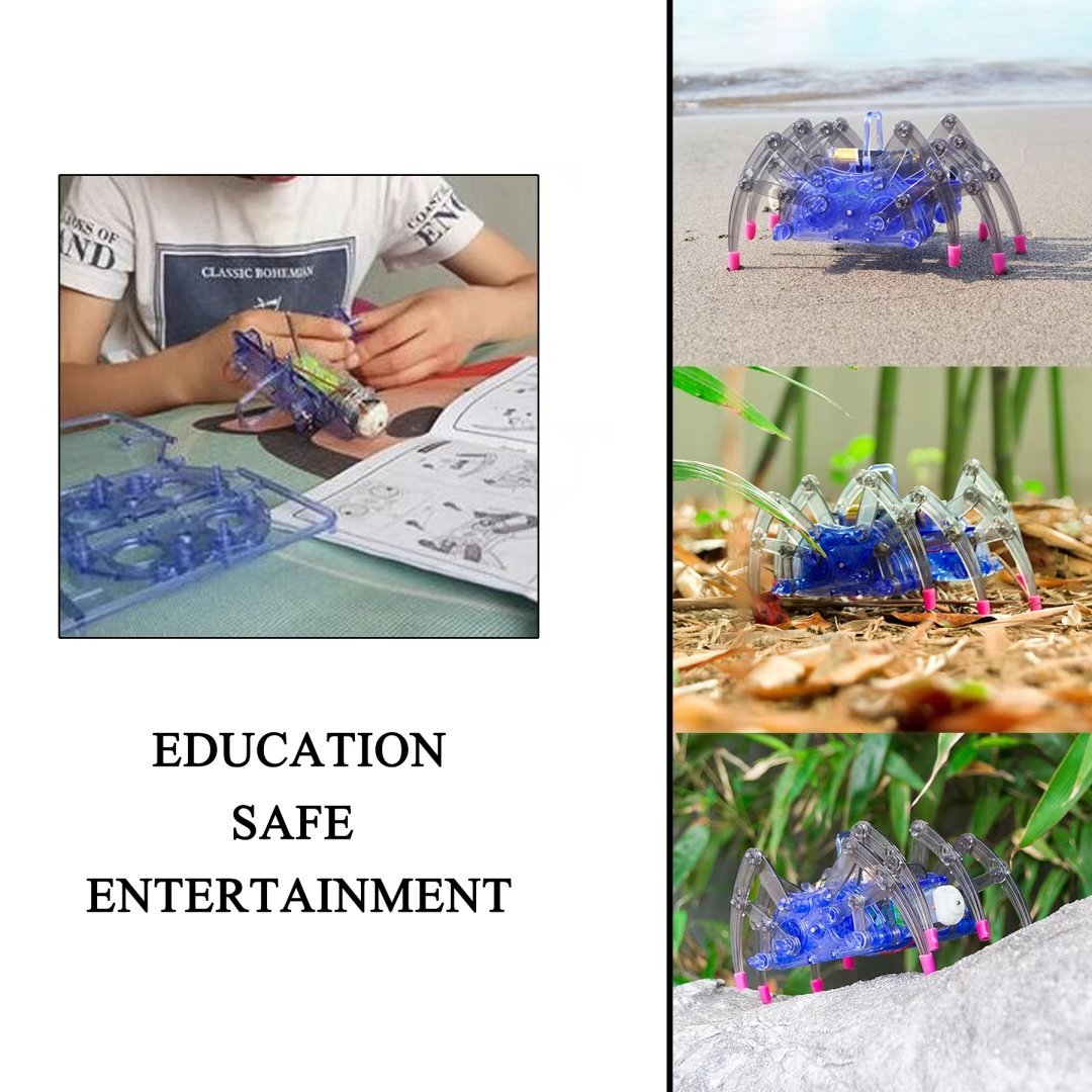 DIY Spider Robot Building Kits Assemble Educational Scientific Robot Toys Robot Spider Toys Kids Gift STEM Toy