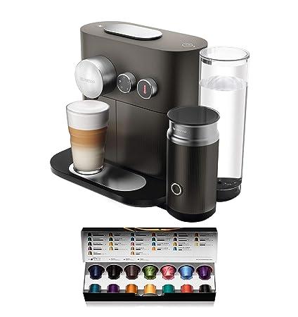 Nespresso DeLonghi Expert Milk EN355.GAE - Cafetera monodosis de cápsulas Nespresso + aeroccino, controlable con smartphone via bluetooth, recetas ...