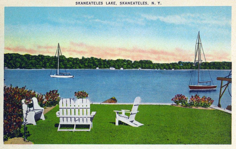 Skaneateles, New York - View of the Lake (12x18 Art Print, Wall Decor Travel Poster)
