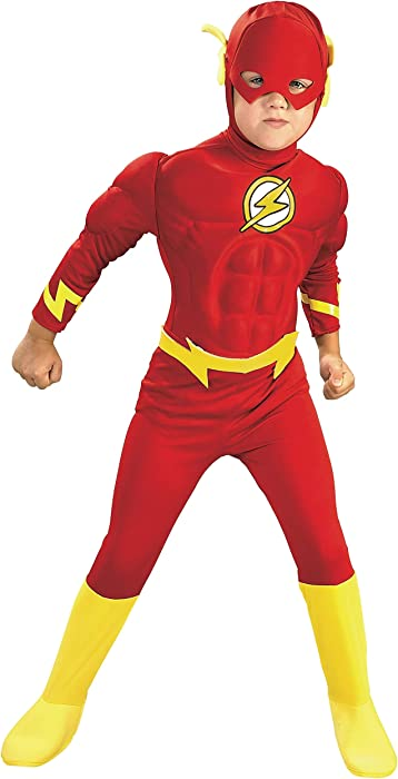 Rubie's DC Comics Deluxe Muscle Chest The Flash Child's Costume, Medium