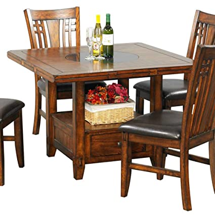 Incroyable Winners Only, Inc. Zahara Dining Table W Drop Leaf