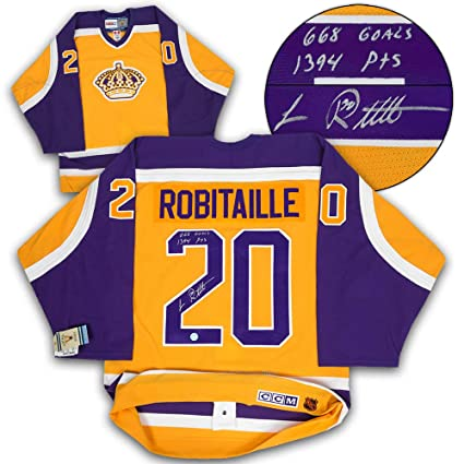 reputable site 90a9d 75c01 Luc Robitaille L.A. Kings Autographed & Inscribed Ccm ...