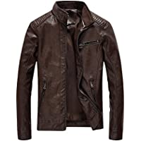 Blaq Ash Men's Faux Leather Biker Outerwear Slim Fit Jacket