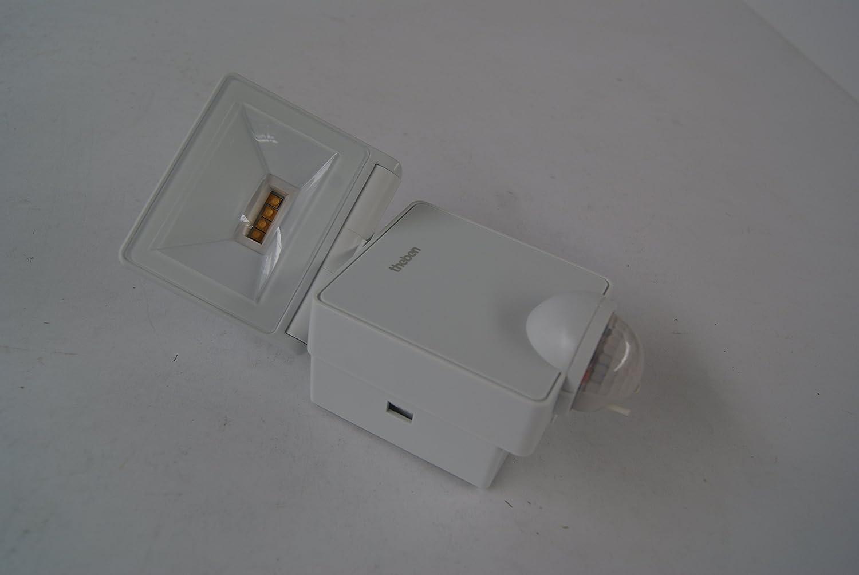 wei/ß 3000 K Theben 1020951 Luxa 102-140 LED 8W W Strahler mit Bewegungsmelder f/ür Wandmontage