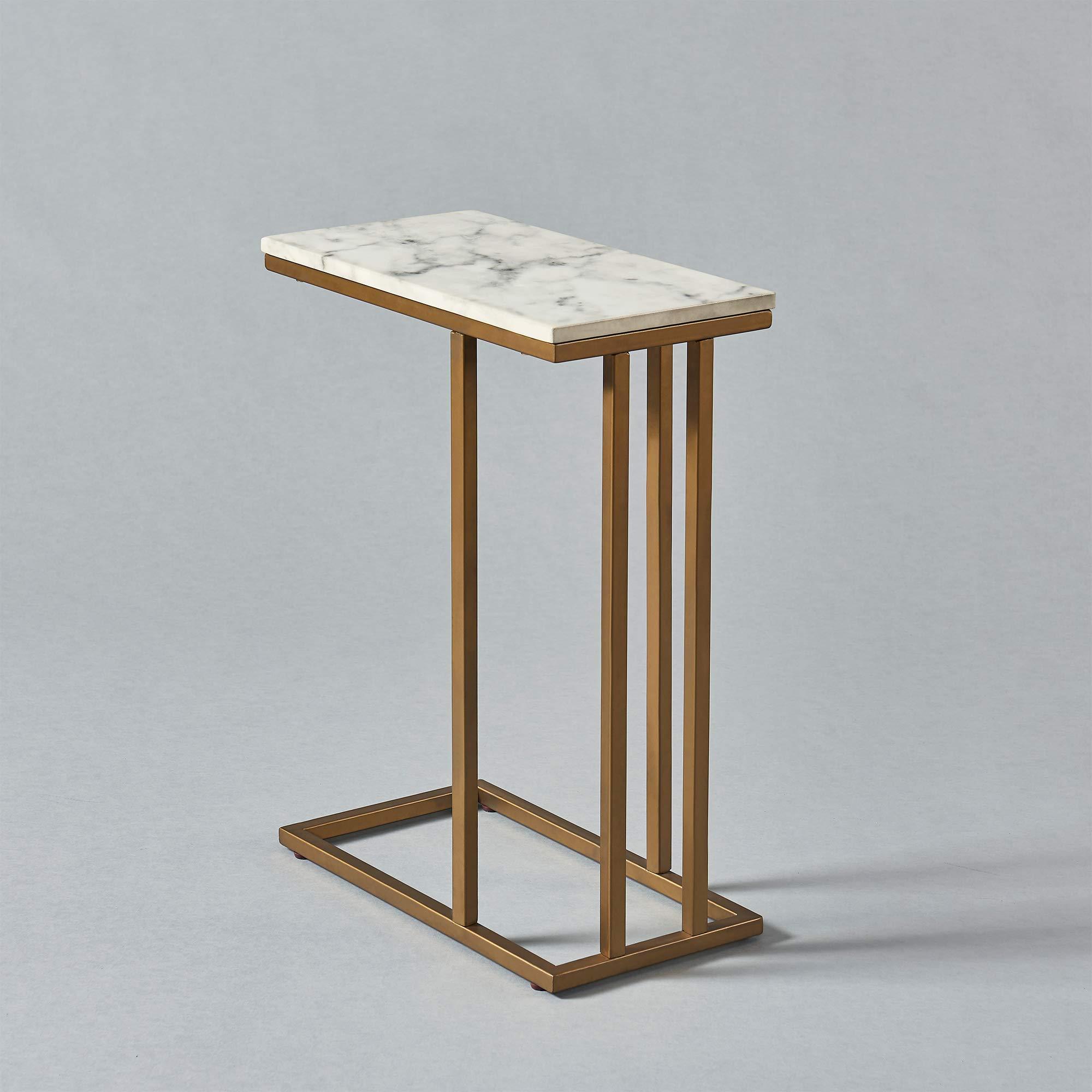 Versanora - Marmo C Shape Table - Faux Marble /Brass by Versanora (Image #15)