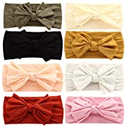 Baby Girl Nylon Headbands Newborn Infant Toddler Hairbands and Bows Child Hair Accessories (Multicolor-ZM17)