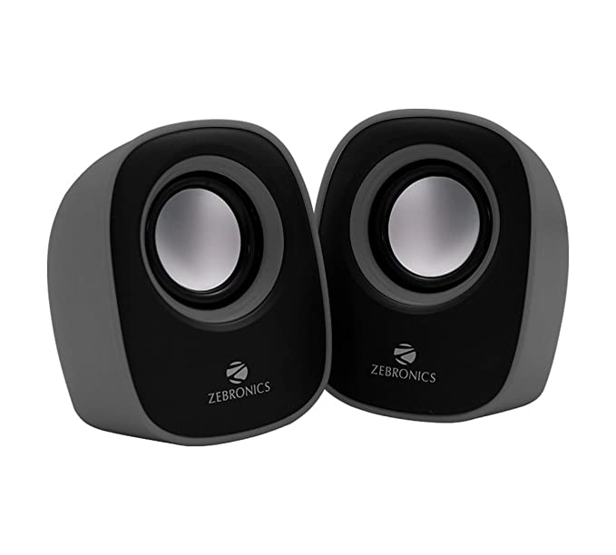 Zebronics Pebble New 2.0 Multimedia Speaker for Laptop / Desktop  Color may vary  PC Speakers