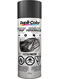 Dupli-Color CCWRC7947 Custom Wrap Removable Coating, Carbon Black, 11 Ounces, 1 (Non-Carb Compliant)