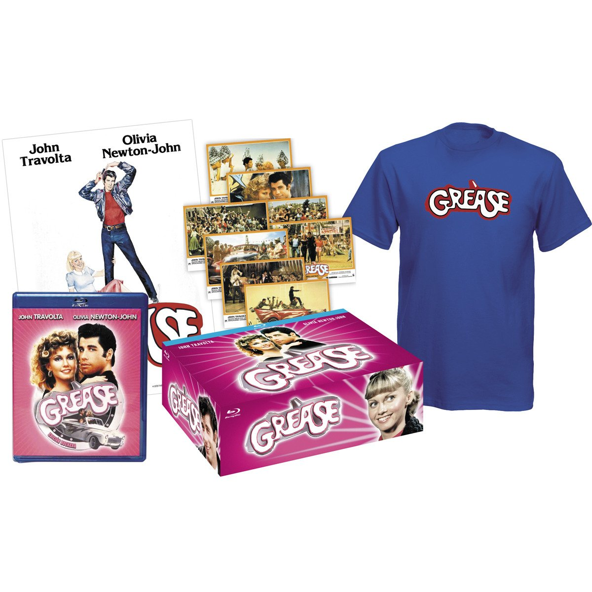 Amazon com: Grease - Pack Collector (Blu-Ray + Tshirt + 8