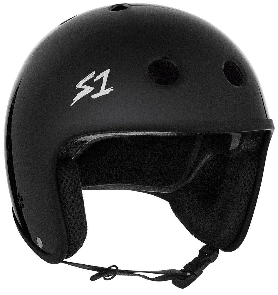 S-ONE Retro Lifer CPSC - Multi-Impact Helmet -Black Gloss - Medium (21.5'')