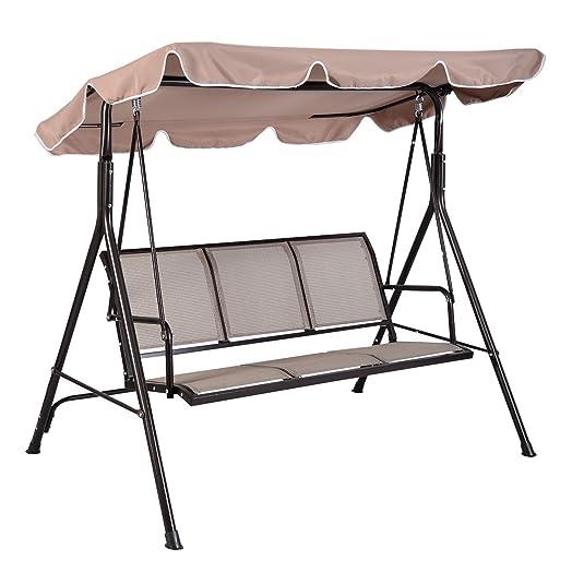 Costway Outdoor Swing Chair 3 Seater Garden Luxury Hammocks