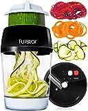 fullstar Vegetable Spiralizer Vegetable Slicer - 3 in 1 Zucchini Spaghetti Maker Zoodle Maker - Veggie Spiralizer Adjustable Handheld Spiralizer - Zucchini Noodle Maker Spiralizer with Container
