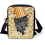 doginthehole Crossbody Bag 3D Animal popcorn Print Children Handbag Purse Mini