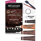 Coconix Brown Leather Repair Kits for Couches - Vinyl & Upholstery Repair Kit for Car Seats, Sofa & Furniture - Liquid Scratc
