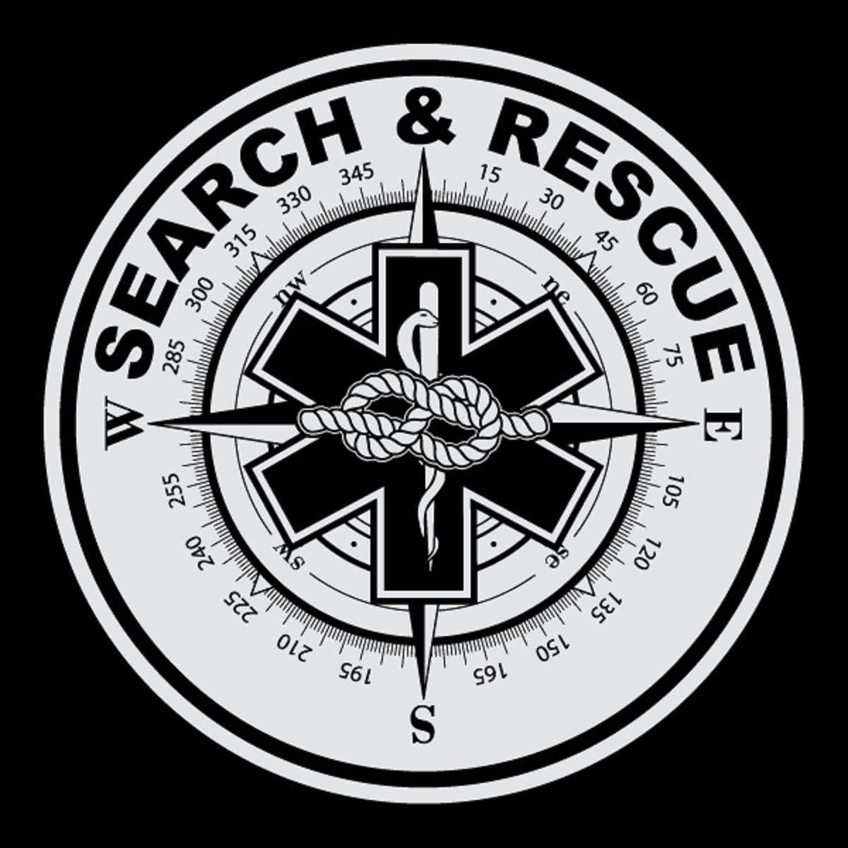 Emergency Search /& Rescue Large Round Reflective Decal Sticker