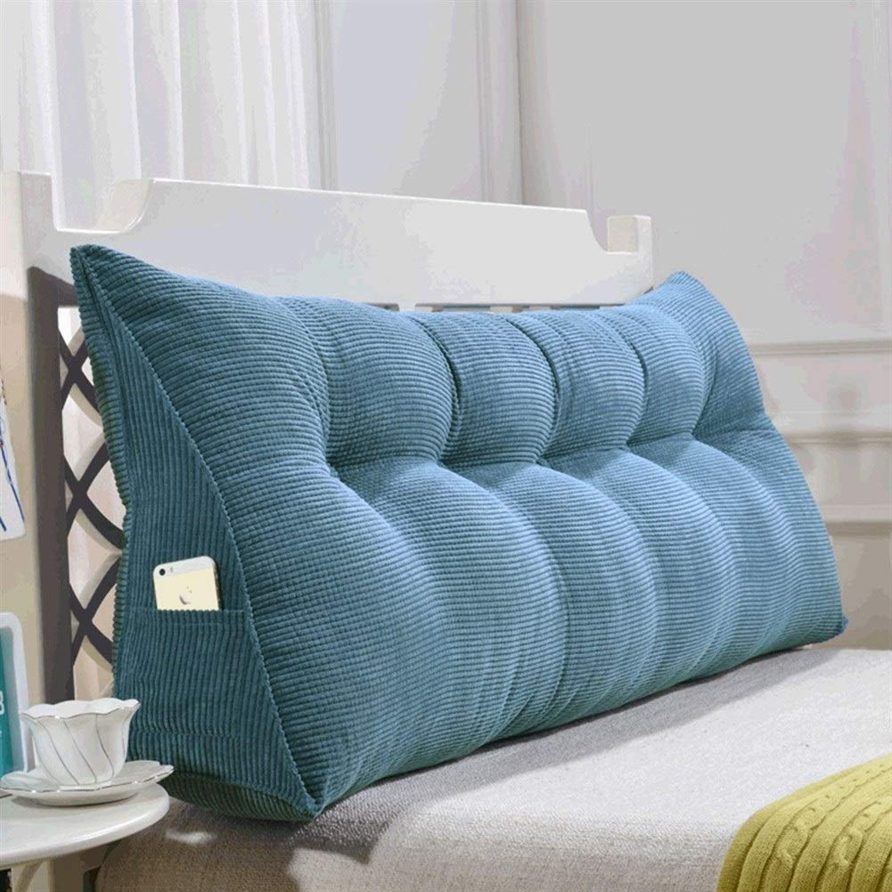 Hong Jie Yuan Triangular Wedge Bedside Back Cushions Soft Reading Pillow Triangle Back Cushion Pillow Sofa Bed Office Chair Rest Pillow Back Support Pillow Color : A, Size : 90cm