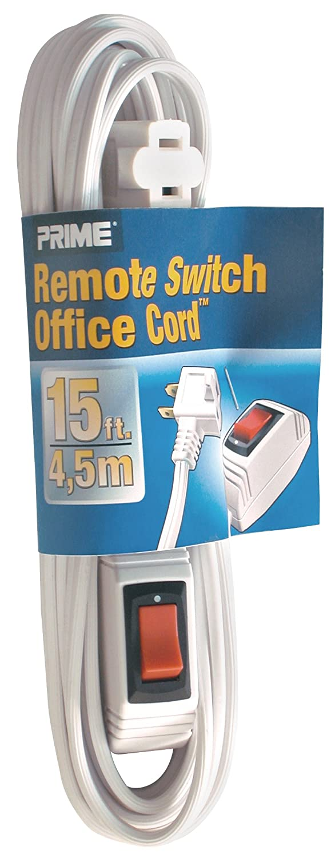 Prime Wire & Cable EC870615 15-Foot 16/2 SPT-2 Remote Switch Cord ...