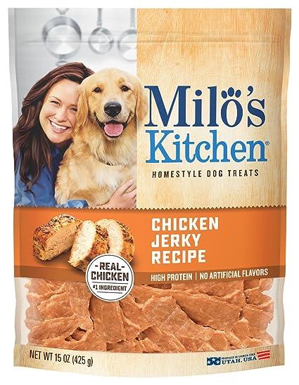 Making chicken jerky dog treats