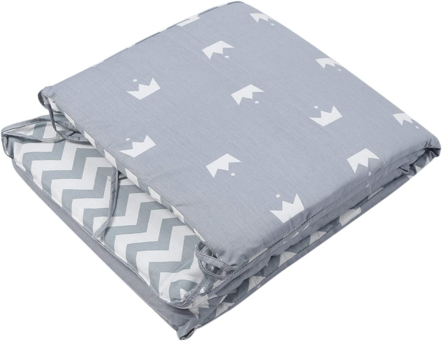 Nrpfell Breathable Crib Bumper Pads Washable Padded Crib Liner Set for Baby Boys Girls Safe Bumper