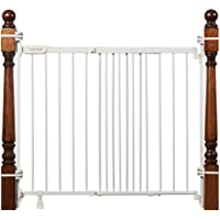 """Summer Metal Banister and Stair Safety Baby Gate, White Finish – 32.5"""" Tall, Fits Openings of 31"""" to 46"""" Wide, Extra…"""