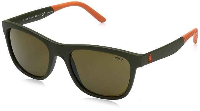 Ralph Lauren Polo 0PH4120, Gafas de Sol para Hombre, Matte Olive, 55
