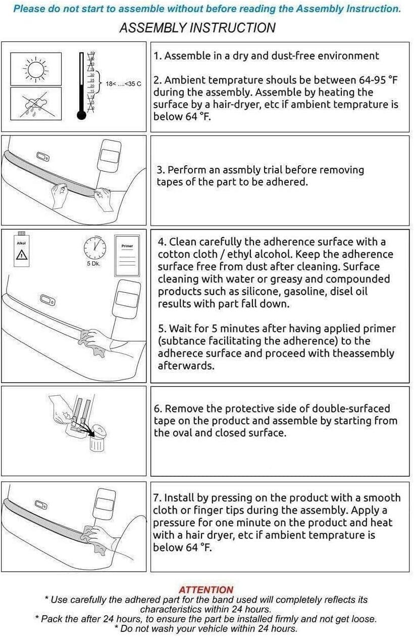 2014+ Protecteur de pare-chocs arri/ère en acier inoxydable chrom/é pour Macan