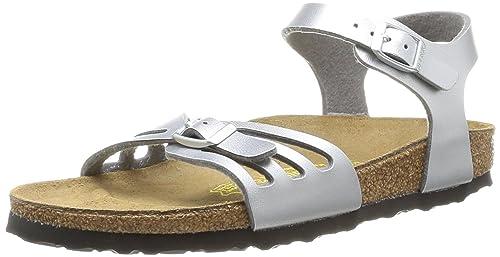 Birkenstock Bali Sandali con Cinturino alla Caviglia Donna Argento Argent