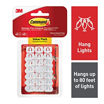 3M Command Decorating Clips, White