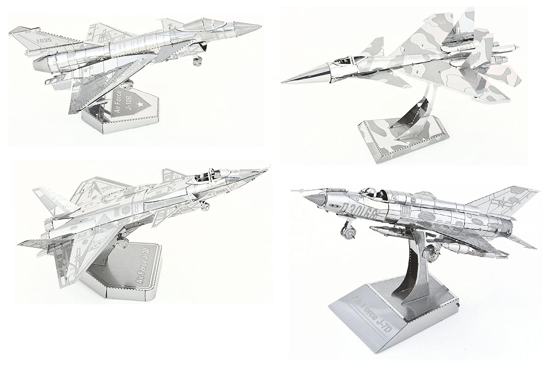 【 開梱 設置?無料 】 3D Metal Puzzle Models Of - The Fighter Jet Collection puzzle Models - DIY Toy Metal Sheets Assembling Puzzle, 3D puzzle - 4 Pack B079RT38NH, 木製知育玩具 ままごと WOODYPUDDY:038adb24 --- a0267596.xsph.ru