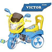 Dash Stylish Kids Tricycle , tricycles , Kids Cycle , Ride on for boy and Girl for 2 to 5 Years with Under seat Storage Space, Lights and Music. (Blue)