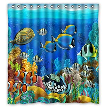 Amazon sea seabed fish corals underwater ocean tropical sea seabed fish corals underwater ocean tropical waterproof shower curtain 66quot publicscrutiny Images