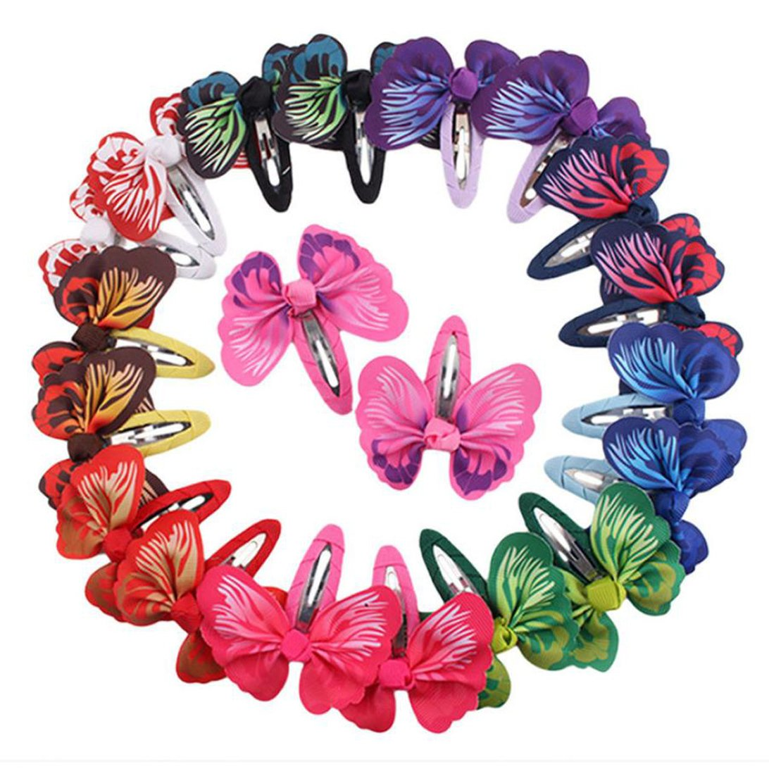 WensLTD Clearance! 1 Pair Fashion Baby Girls Hair Accessories Bowknot Butterfly Hairpin Headdress (Blue)