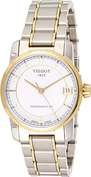 Tissot T-Classic Automatic Mother of Pearl Dial Two-tone Ladies Watch T0872075511700