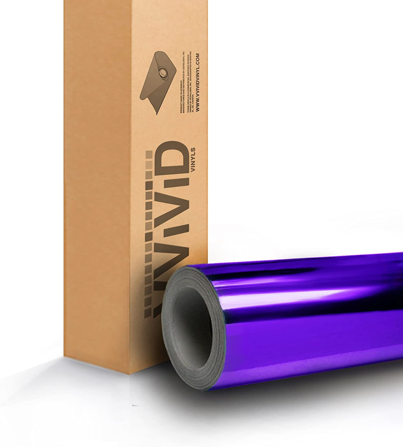 VViViD Purple Chrome Wrap Vinyl with Air-Free Channels and Ready to Use Adhesive DIY 3ft x 5ft