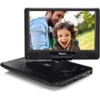NAVISKAUTO 12 Inch Portable Blu-Ray DVD Player 1080P with HDMI Out Rechargeable Battery, Support MP4 USB SD Sync Screen…