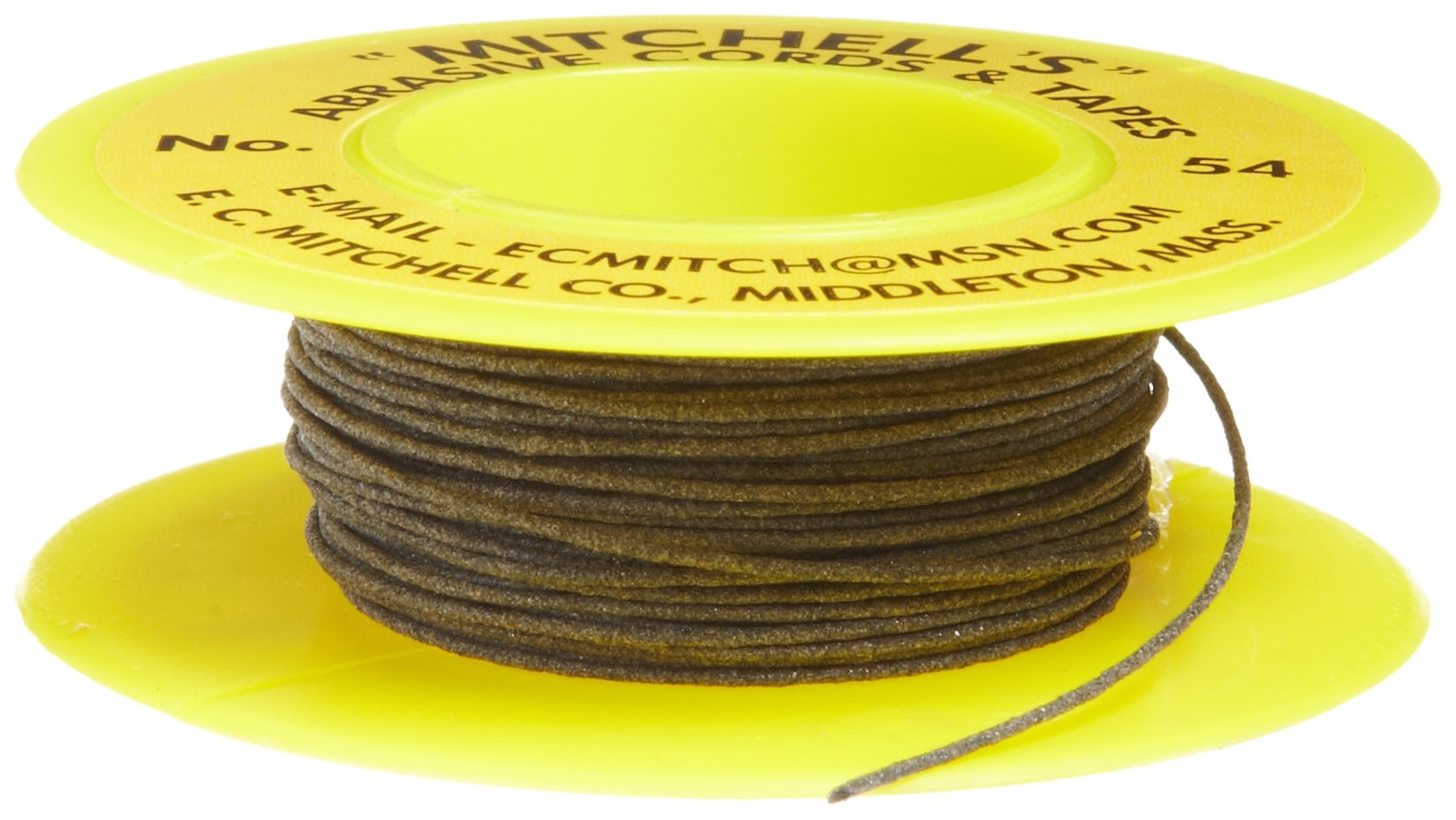 Mitchell Abrasives 54 Round Abrasive Cord, Aluminum Oxide 180 Grit .030'' Diameter x 25 Feet by Mitchell Abrasives