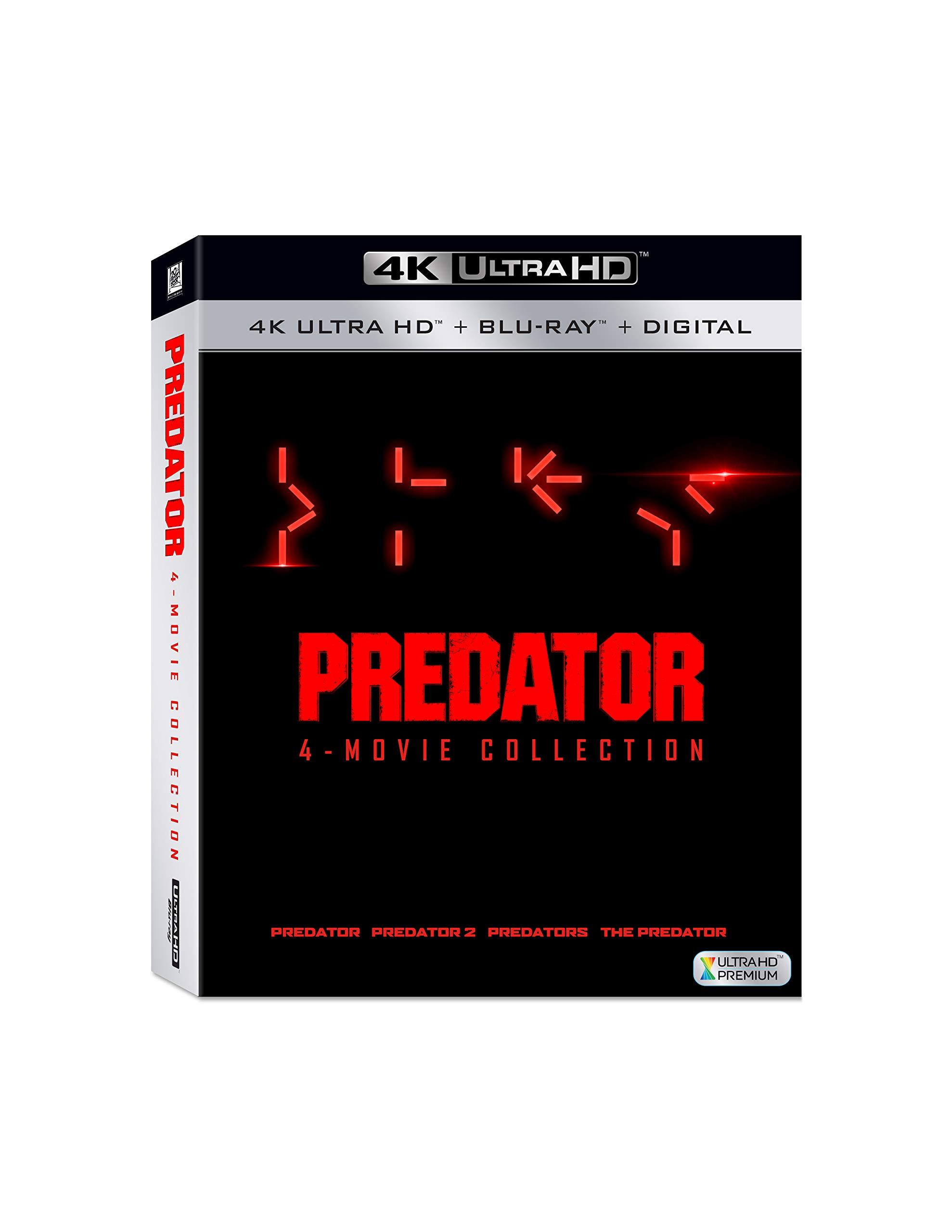 4K Blu-ray : Predator 1-4 (Digital Copy, Subtitled, Widescreen, Dolby)