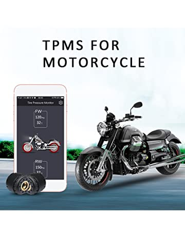 Motorcycle Bluetooth Tire Pressure Monitoring System TPMS Mobile Phone APP Detection External Sensor Bluetooth 4.0 TPMS